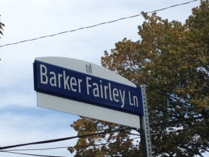 sign - Barker Fairley Ln